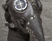 Plague Doctor Gas Mask, Antiqued Hardware - MS053AN