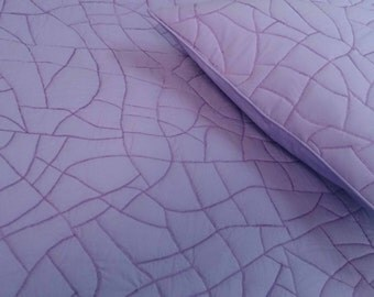 cotton bedspread light purple plum abstract brick pattern quilt King size bedspread bedding coverlet  contemporary quilt