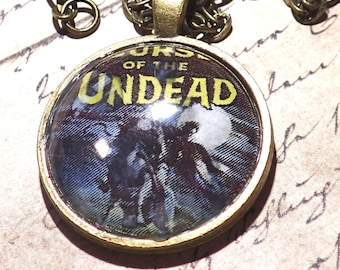 Vintage Horror comic necklace Curse of the Undead jewelry