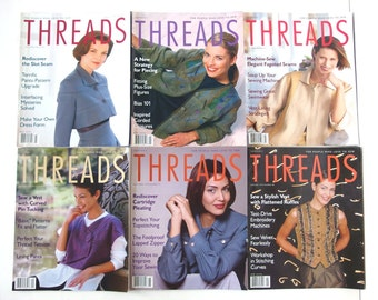 1998 Threads Magazines, No 75 to 80 with Index