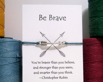 Be Brave Arrow Wish Bracelet