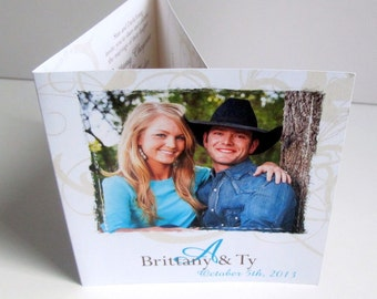 Western Wedding Invitations  - All in One Country Wedding Invites (178)