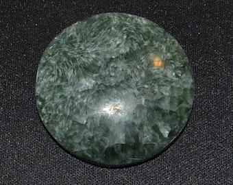 37mm round seraphinite cabochon