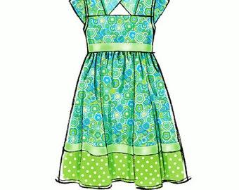 Little Girls' Sunday Dress Pattern, Little Girl Dress Pattern, McCall's Sewing Pattern 7108