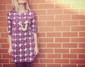 Marimekko Dress/ tunic purple scandanvian flowers sale!!