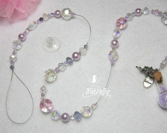 Fairy Sun Catcher - Believe in fairies suncatcher pink or lilac with crystals beautiful gift