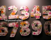 Owls Pink & Orange  0-9 Numbers Plush Magnet Set-Learning-Fabric