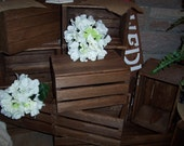 Wedding Crates 10in wood box centerpieces Rustic reception mason jar holder planter box vases barn country decorations cottage chic shabby