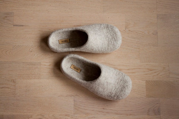 Lana Zapatos de oveja orgánicos de fieltro zapatillas Zuecos Zapatos Lana casa c0126b