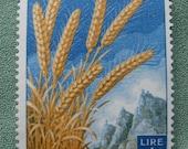 Wheat 1 Lire San Marino Stamp 1958 Colorful Harvest Theme