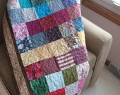 Patchwork Bed Quilt or Lapsize Quilt of Blocks