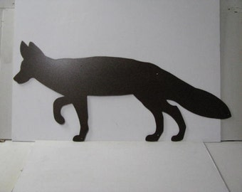 Fox XLarge Metal Yard Art Wildlife Silhouette
