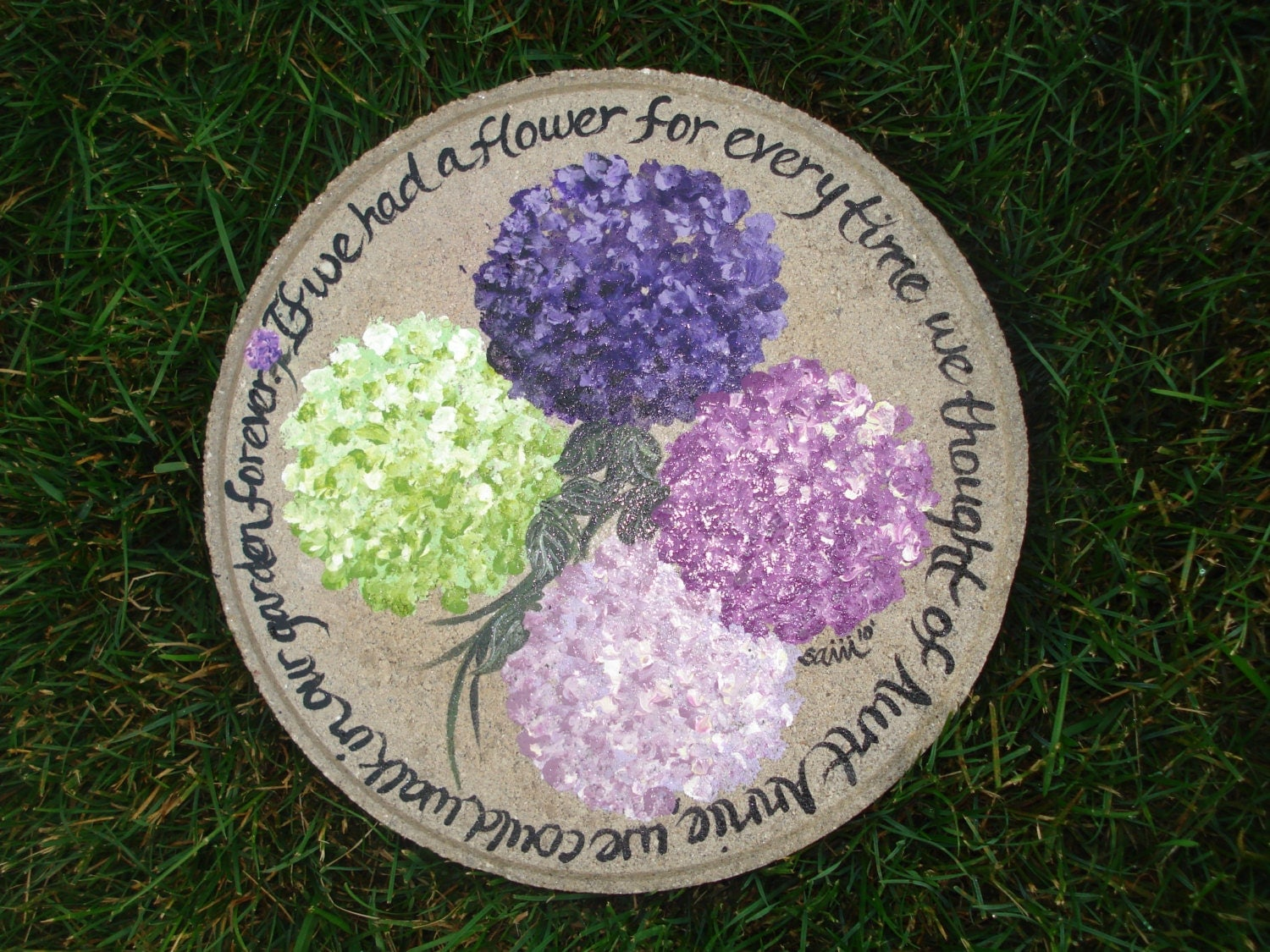 Hand painted stepping stone mothers day if i had a - Hand painted garden stones ...