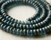 Silky Montana Blue Czech glass donut bead mix, Rondelle glass bead mix, 4mm, Montana Blue glass bead mix (100pcs) NEW