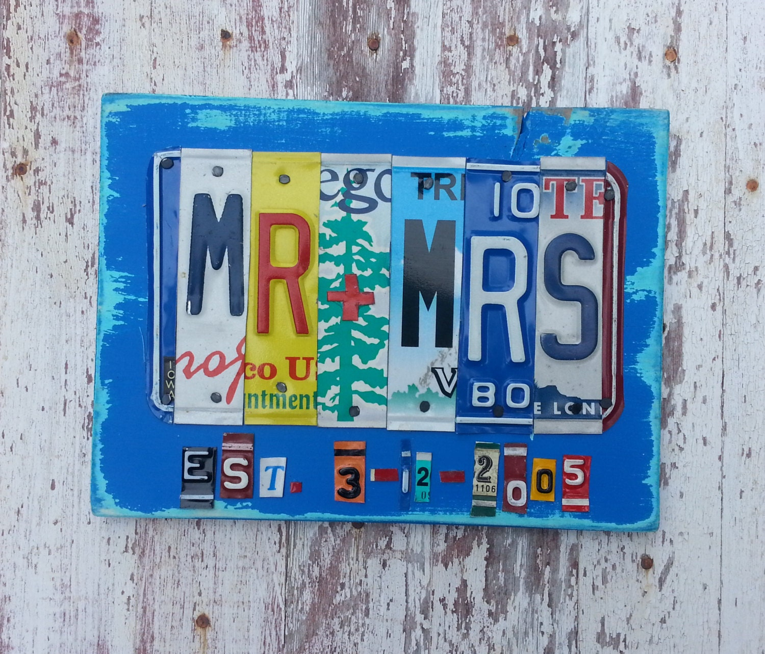 10th Wedding Anniversary Gift For Husband: 10th Wedding Anniversary Aluminum Tin Gift 10 By Recycledartco