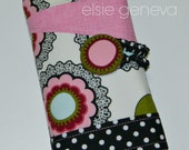 Personalized Black Pink Blue Green Dots Floral Spill Proof Interchangeable, Circular and/or DPN Knitting Needle Organizer
