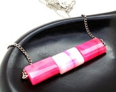 Simple Pink Necklace, Trendy Teen Necklace, Pink Single Strand, Hot Pink Necklace, Pink Mod Necklace,Cotton Candy Pink