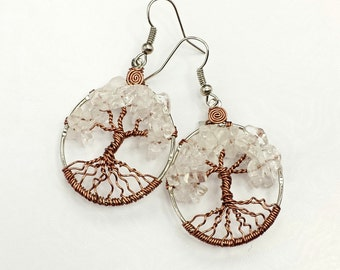 Birthstone Tree of Life Earrings Made To Order Can be upgraded to ship Priority Mail  Please Read Entire Description Before Making Purchase