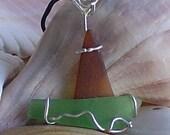 Beach Glass Boat Lighhouse Pendant/Ornament