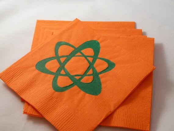 Custom Order for Jennifer - Science Symbol Paper Cocktail Napkins