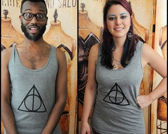 Geeky Symbol tank top. American Apparel UNISEX trip-blend tank top, size extra small to XL.