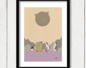 Cats & Dogs Small Illustration Poster