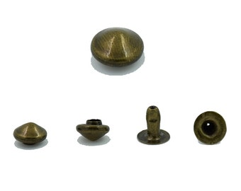 300 pcs Antique Brass Cone Rivets Studs Decorations Findings 6 mm. Co Br 6 19 RV 3