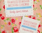 Simple and Sweet Fabric Quilt Label