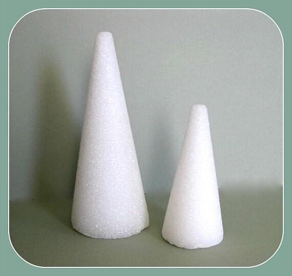 Styrofoam 2 Tree Cones 6 Or 9 Craft Foam By Afloralaffair