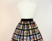 Black Day of the Dead Loteria Skirt