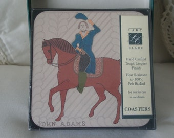 Vintage Lady Clare Hand Crafted Heat Resistant Felt Backed Coasters NEW