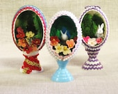 Easter Eggs , Diorama , Easter Decorations , Holiday Decor , Decorative Eggs , Bunny Rabbits , Easter , Eggs , Decor , Spring Decor , Rabbit