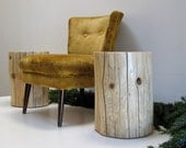 Stump Table Reclaimed Wood Beam Log Stool Natural Color