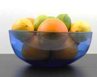 Blown Glass Bowl - Blue