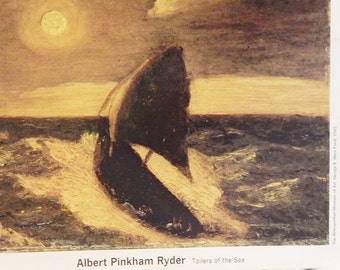 Toilers of the Sea by Albert Pinkham Ryder Vintage print from ''My Weekly Reader Art Gallery 2''