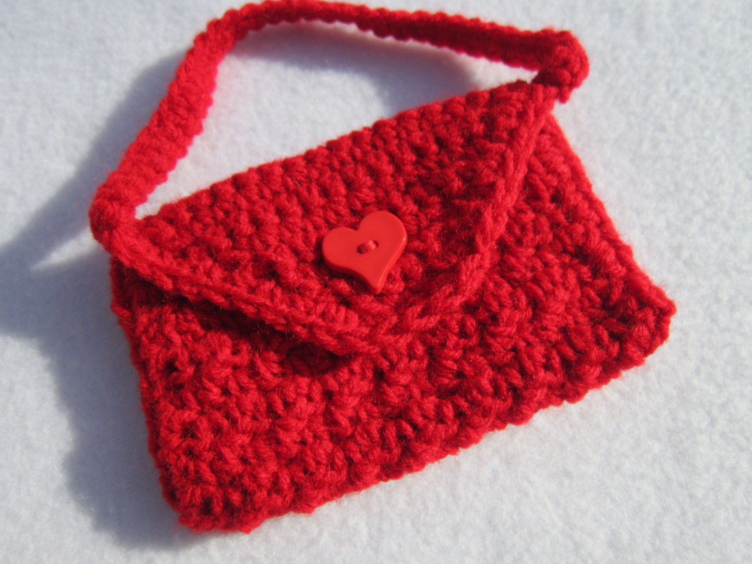 Crochet Bag For Girl : Crochet Purse for Little Girl Christmas Bag by crochetedbycharlene