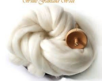 Falkland Combed Wool Top Excellent Spinning and Dyeing Fiber 4 oz