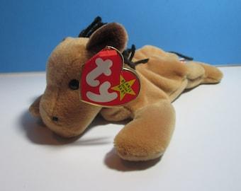 vintage ty beanie baby horse, derby, yarn mane, free shipping