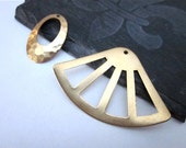 Gold Brass Components -- Brass Pendants -- Metal Pendant Supply -- Unique Assorted Pendant -- Jewelry Supplies & Destash