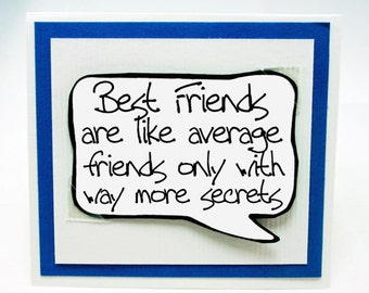 Best Friends Card. Cute Card for Friends. Funny Birthday Card for Friends. MN020
