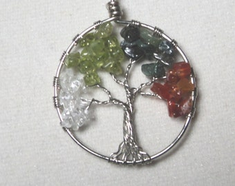 "1.5""  Four Season  Tree Of Life Necklace"
