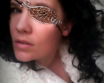 Steampunk Filigree Wire Eyepatch