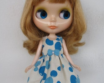 Blue Balloons Dress for Blythe doll