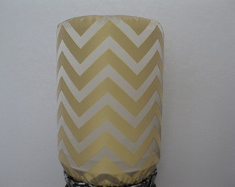 Yellow Chevron Home Decor Bottle Cover for 5 Gallon Water Standard Size