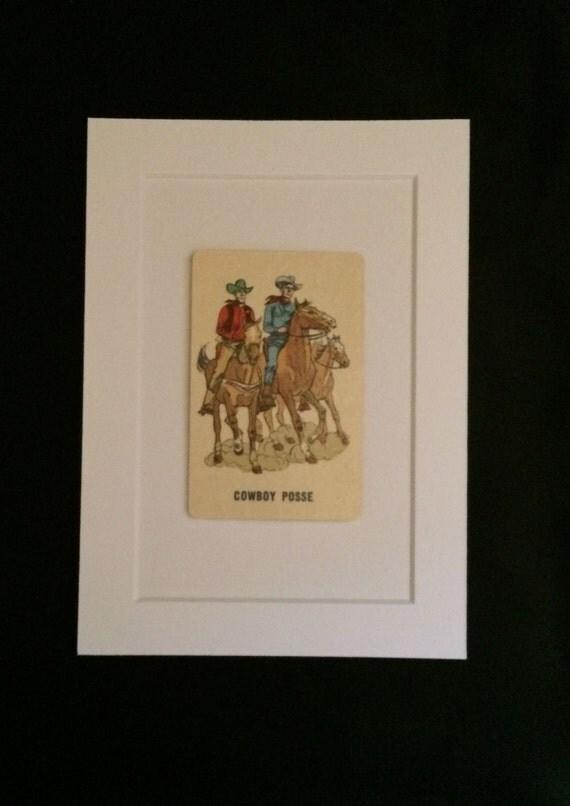 Vintage Cowboy Board Games
