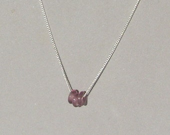 Plum Glass Donuts Necklace