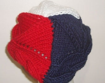 France Flag Knit Winter Beret Hat French Gifts, France Gift for Women