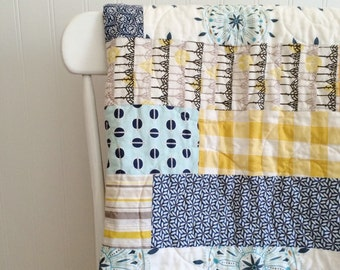 Bright and Cheerful Baby or Toddler Quilt