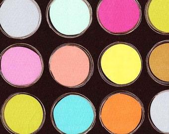 Michael Miller's Paint Lids (Brown) 1 yard