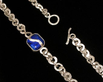 Silver Chain with Lapis